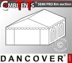 Estensione terminale di 2 m per Semi PRO CombiTent, 8x2m, PVC, Bianco