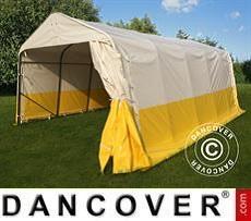 Tenda da lavoro/magazzino PRO 3,6x6x2,7m, PVC, Bianco/Giallo, Ritardante di…