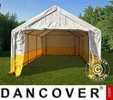 Tenda da lavoro/magazzino PRO 4x6m, PVC, Bianco/Giallo, Ritardante di fiamma