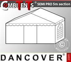 Estensione terminale di 2 m per Semi PRO CombiTents®, 5x2m, PVC, Bianco