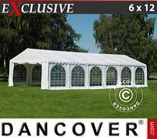 Tendoni Gazebi Party Exclusive 6x12m PVC, Bianco