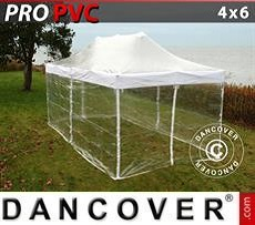 Tendoni Gazebi Party PRO 4x6m Trasparente, inclusi 8 fianchi