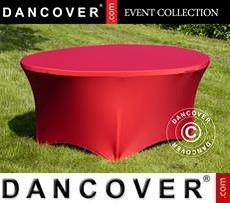 Copri-tavolo elasticizzato, Ø152x74cm, Rosso