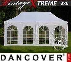 FleXtents Gazebi per Feste Xtreme Vintage Style Bianco Rosa, inclusi 6 fianchi