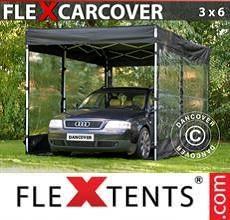 Tenda per racing Carcover, 3x6m, Nero