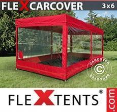 Tenda per racing Carcover, 3x6m, Rosso