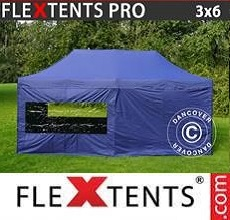 Tenda per racing  PRO 3x6m Blu scuro, inclusi 6 fianchi