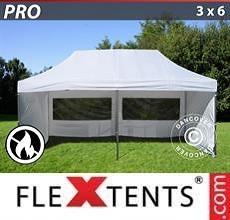 Tenda per racing PRO 3x6m Bianco, Ignifugo, inclusi 6 fianchi