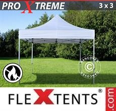 Tenda per racing Xtreme 3x3m Bianco, Ignifugo