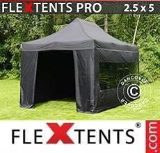 Tenda per racing PRO 2,5x5m Nero, incl. 6 fianchi