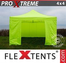 Tenda per racing Xtreme 4x4m Giallo Fluo/verde, inclusi 4 fianchi