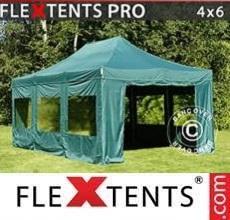 Tenda per racing PRO 4x6m Verde, inclusi 8 fianchi