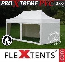 Tenda per racing Xtreme Heavy Duty 3x6m Bianco, inclusi 6 fianchi