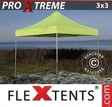 Gazebo pieghevole  Xtreme 3x3m Giallo Fluo/verde