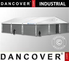 Magazzino Industriale 12x12x5,42m con portone scorrevole, PVC/Metallo, Bianco