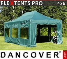 Tendoni Gazebi Party  PRO 4x6m Verde, inclusi 8 fianchi
