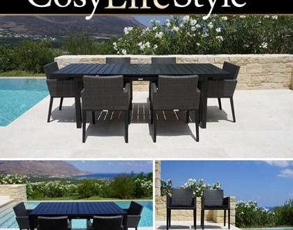 Trädgårdsbord och trädgårdsstolar för trevliga och bekväma middagar