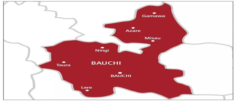 map of bauchi state