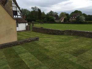 Lawn laid by Dan Davies Landscaping, Wiltshire
