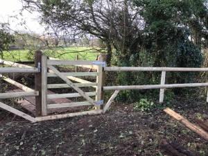 Rustic fencing by Dan Davies Landscaping Wiltshire