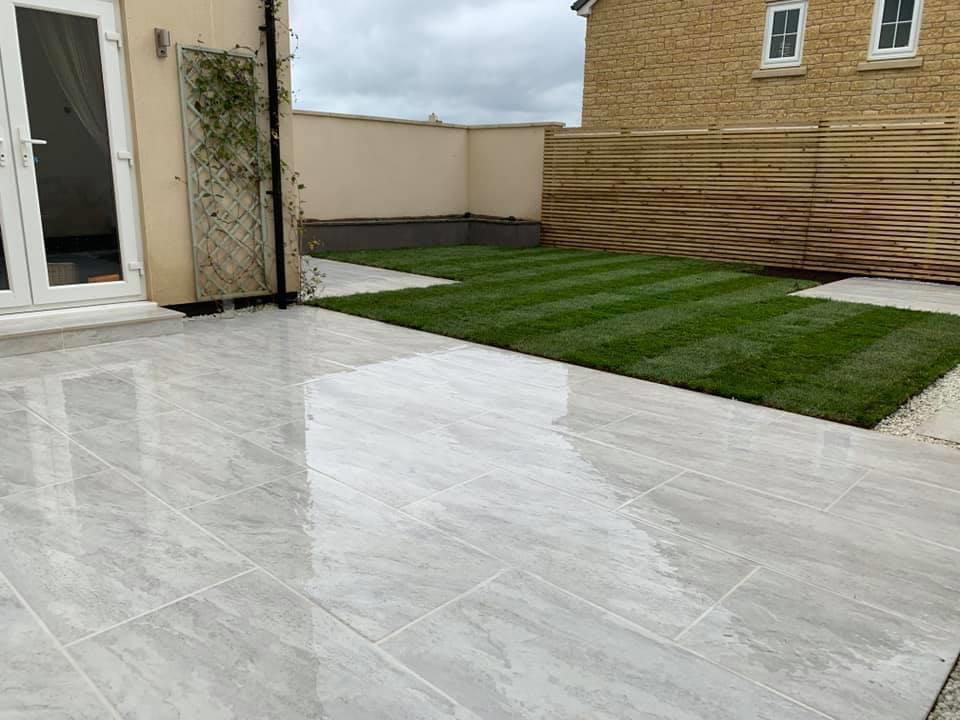 Stunning stone patio