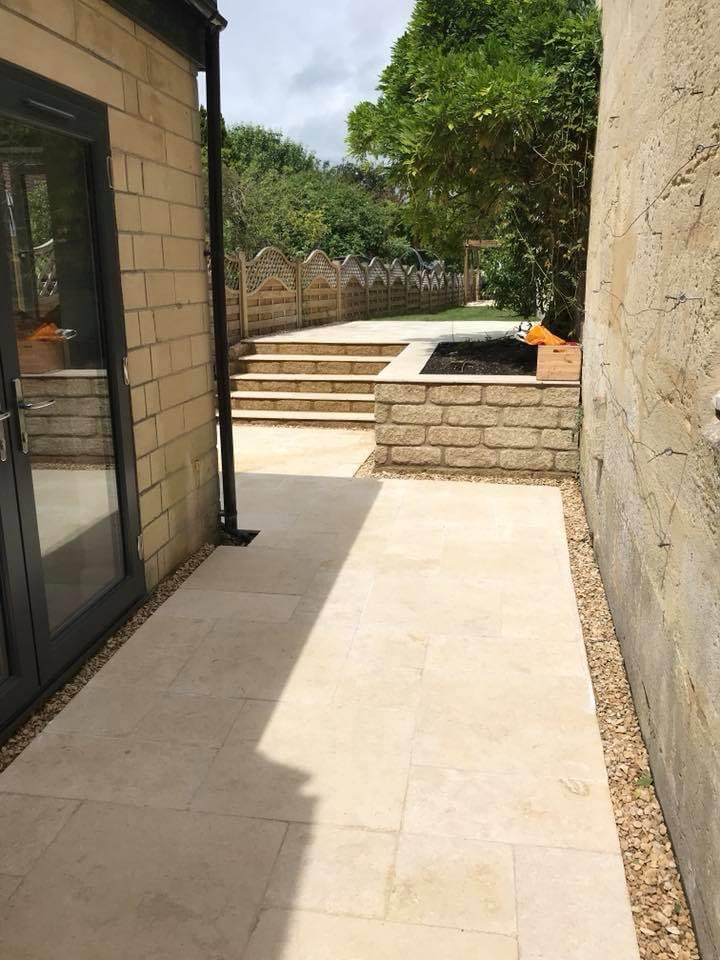 stone steps and blockwork