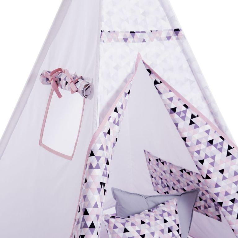 Set Cort de joaca copii Triunghiuri roz