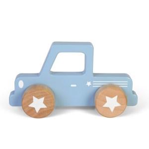 Masinuta bleu din lemn