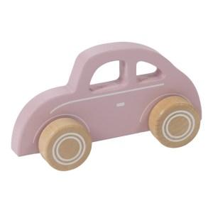 Masinuta roz din lemn - Little Dutch