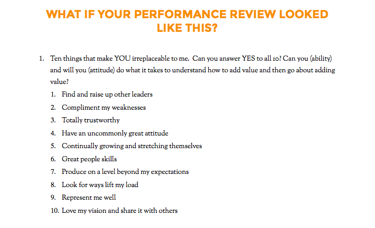employee performance review questions