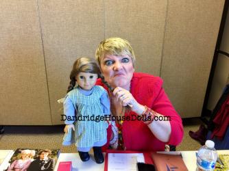 Alison with my custom Laura Ingalls doll.