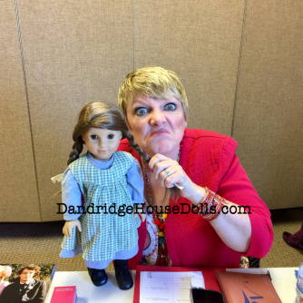 Alison with my custom Laura Ingalls doll.