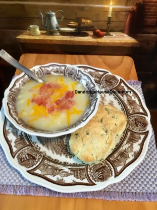 Potato Soup & Parsley Biscuits