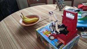 Evel Knievel Stunt Cycle and bananas