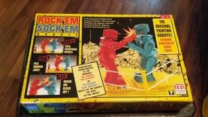 Rock Em Sock Em Robots back of box