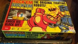 Rock Em Sock Em Robots front of box