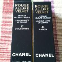 Chanel Rouge Allure Velvet L'Exuberante and La Diva