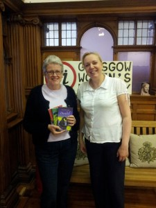 Annabel and myself at the Glasgow Women's Library.