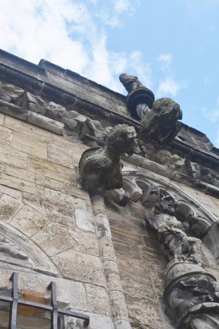 Gargoyles at Stirling Castle.