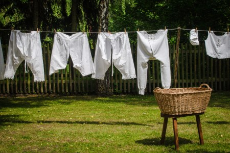 Washing day - not my washing day, my washing day is every day and there's mountains of it!