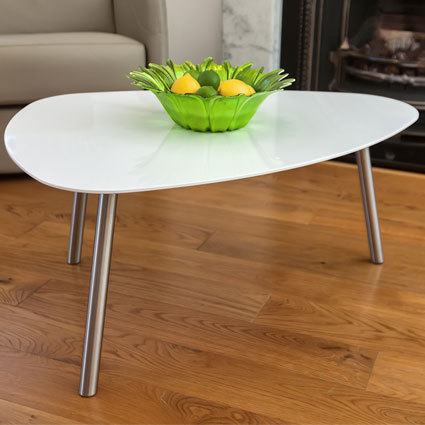 modern white gloss coffee tables in