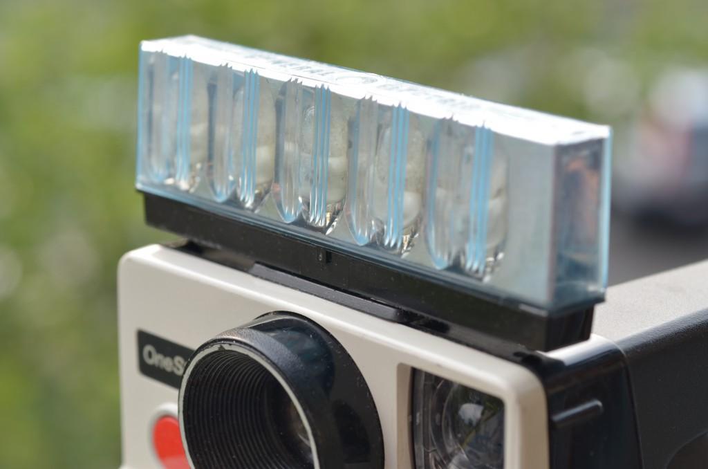 Polaroid OneStep with Flashbar