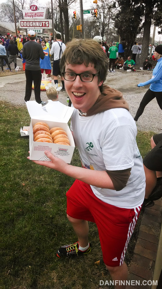 The doughnuts that put the challenge in Krispy Kreme Challenge. I ate all those suckers.