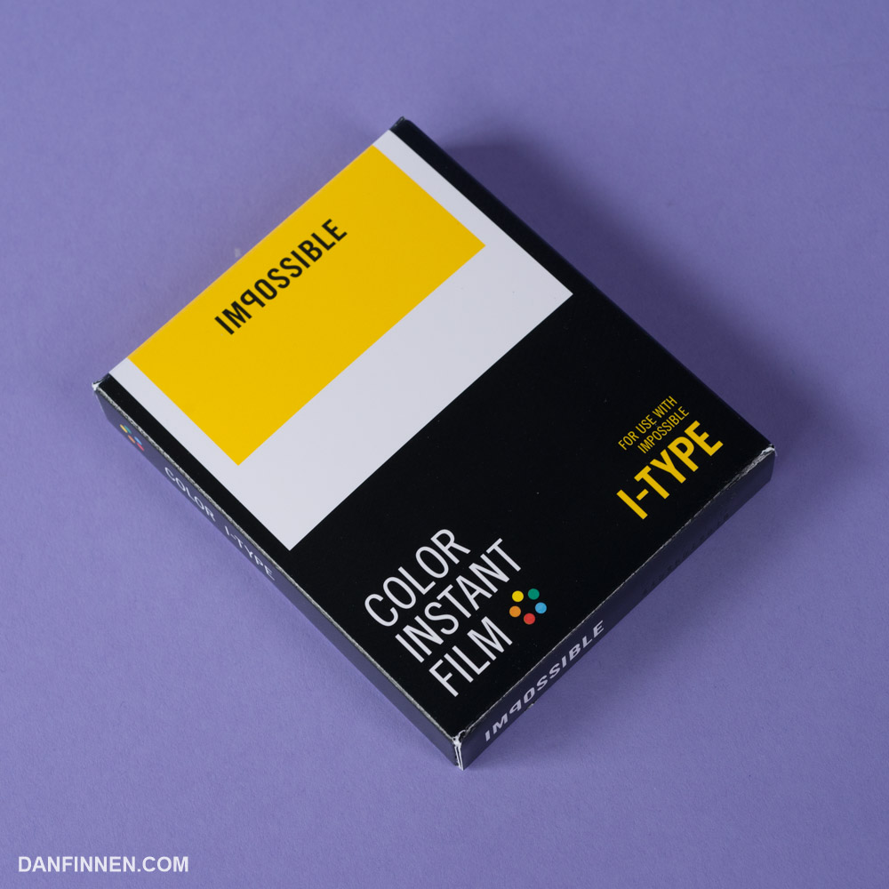 Film cartridges for the I-1 have no battery, which means they won't work on traditional Polaroid cameras.