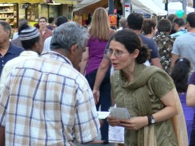 Adriana Mugnatto-Hamu at the Festival of South Asia