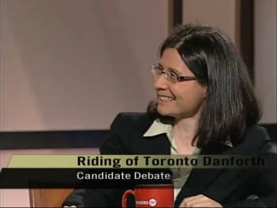 Adriana Mugnatto-Hamu at Rogers TV all-candidates debate