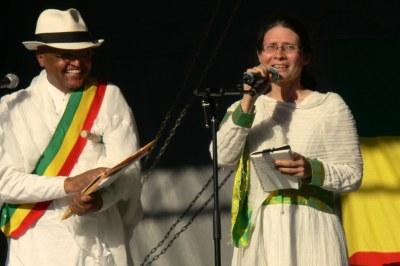 Adriana Mugnatto-Hamu, Toronto-Danforth candidate, at Ethiopian New Year celebration