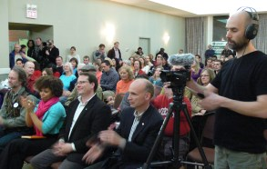 town-hall-audience-applauds
