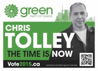 Chris Tolley lawn sign