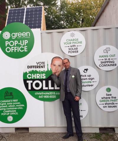 Toronto-Danforth Green Party office
